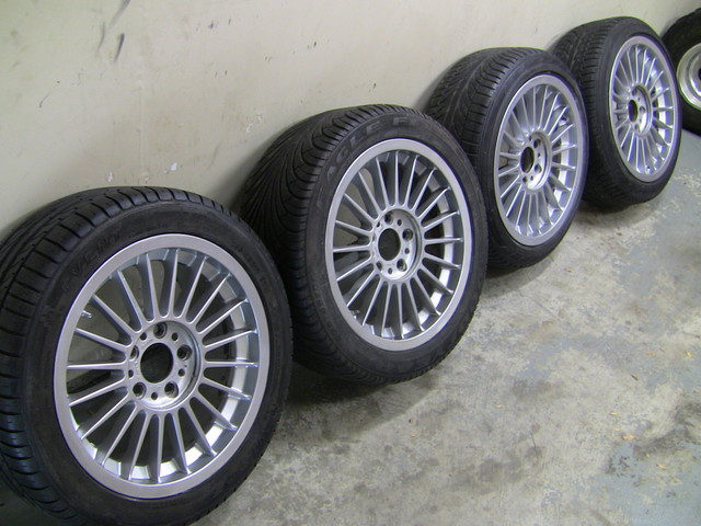 Authentic Alpina rims 17×8 with tires 5×120