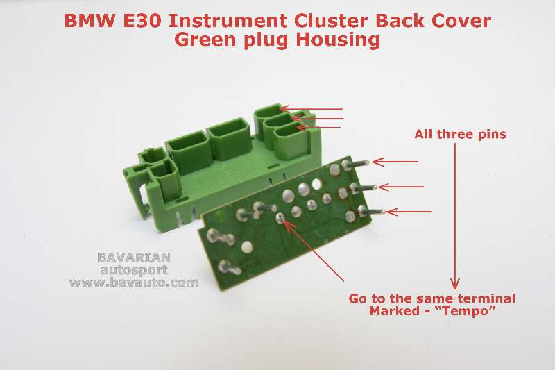 E30InstClusterGreenPlug-0161