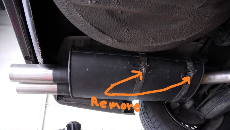 E30 Subframe removal - exhaust hangers