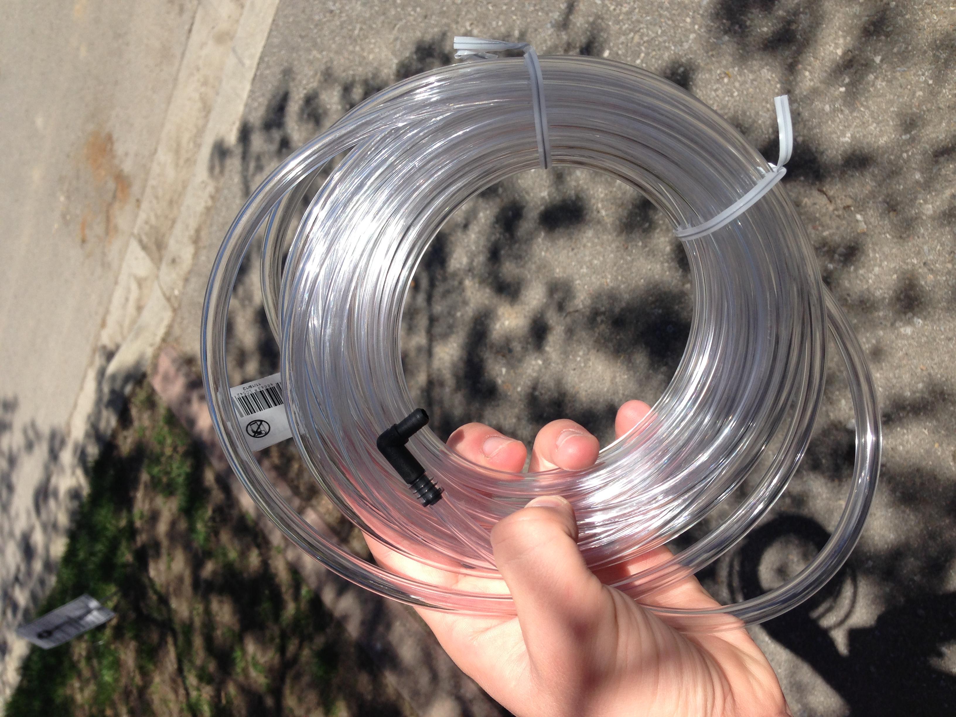 Battery venting tube