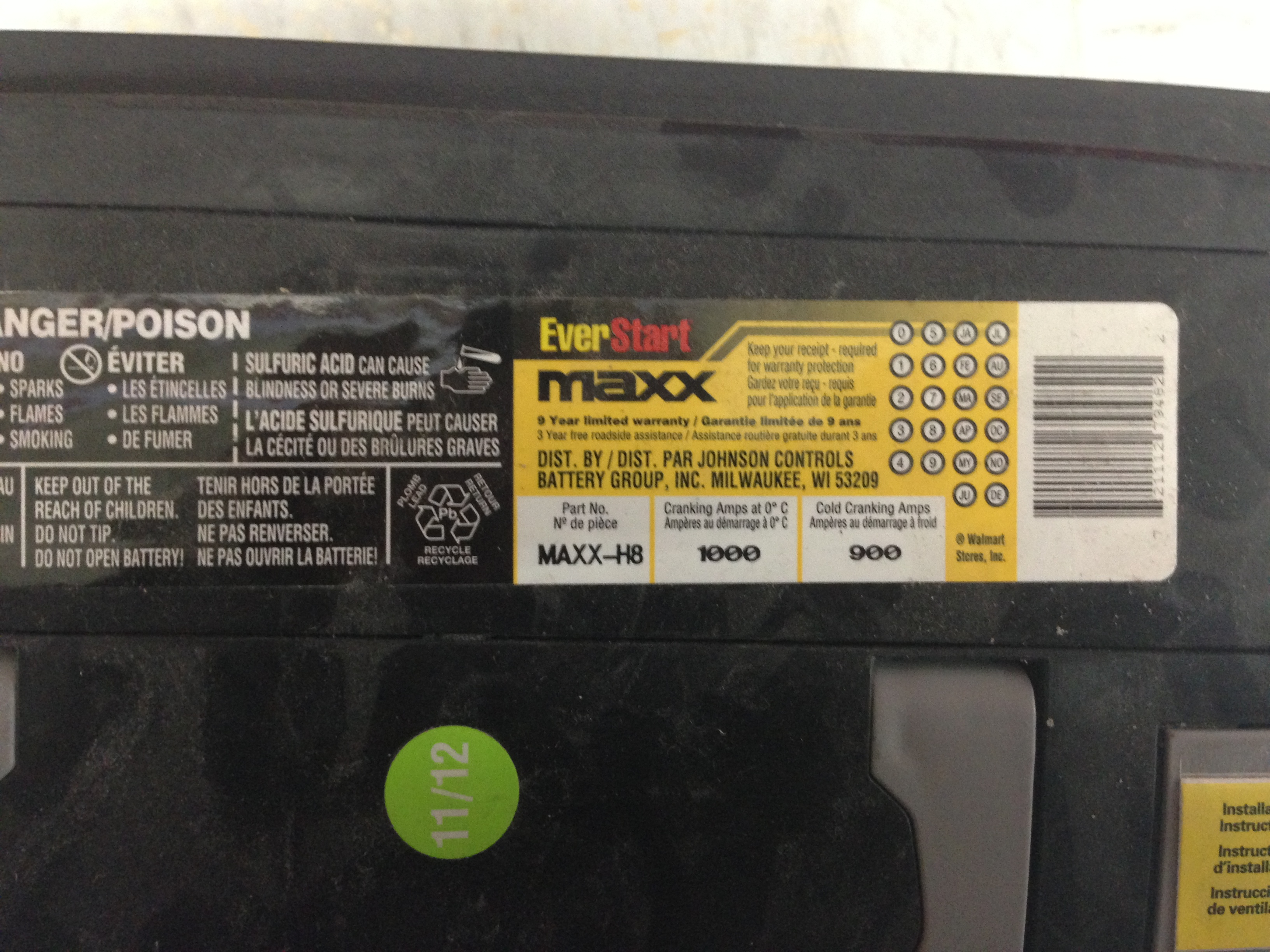 walmart battery e30 johnson controls