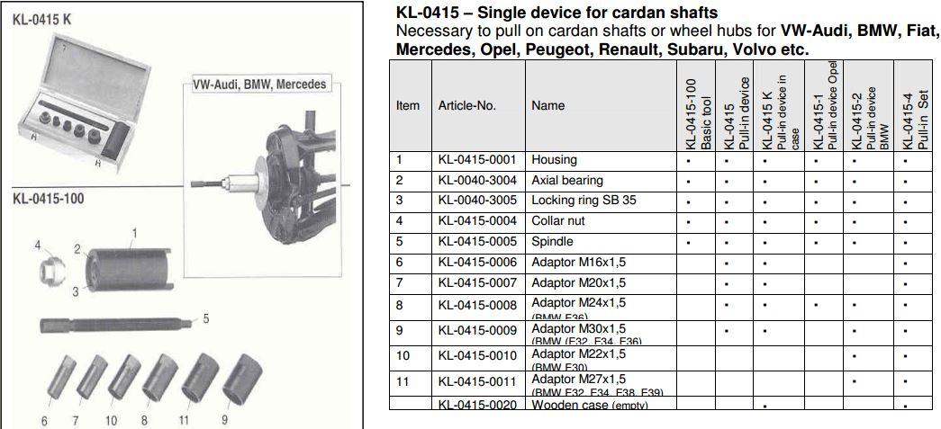 E30 Axle tool