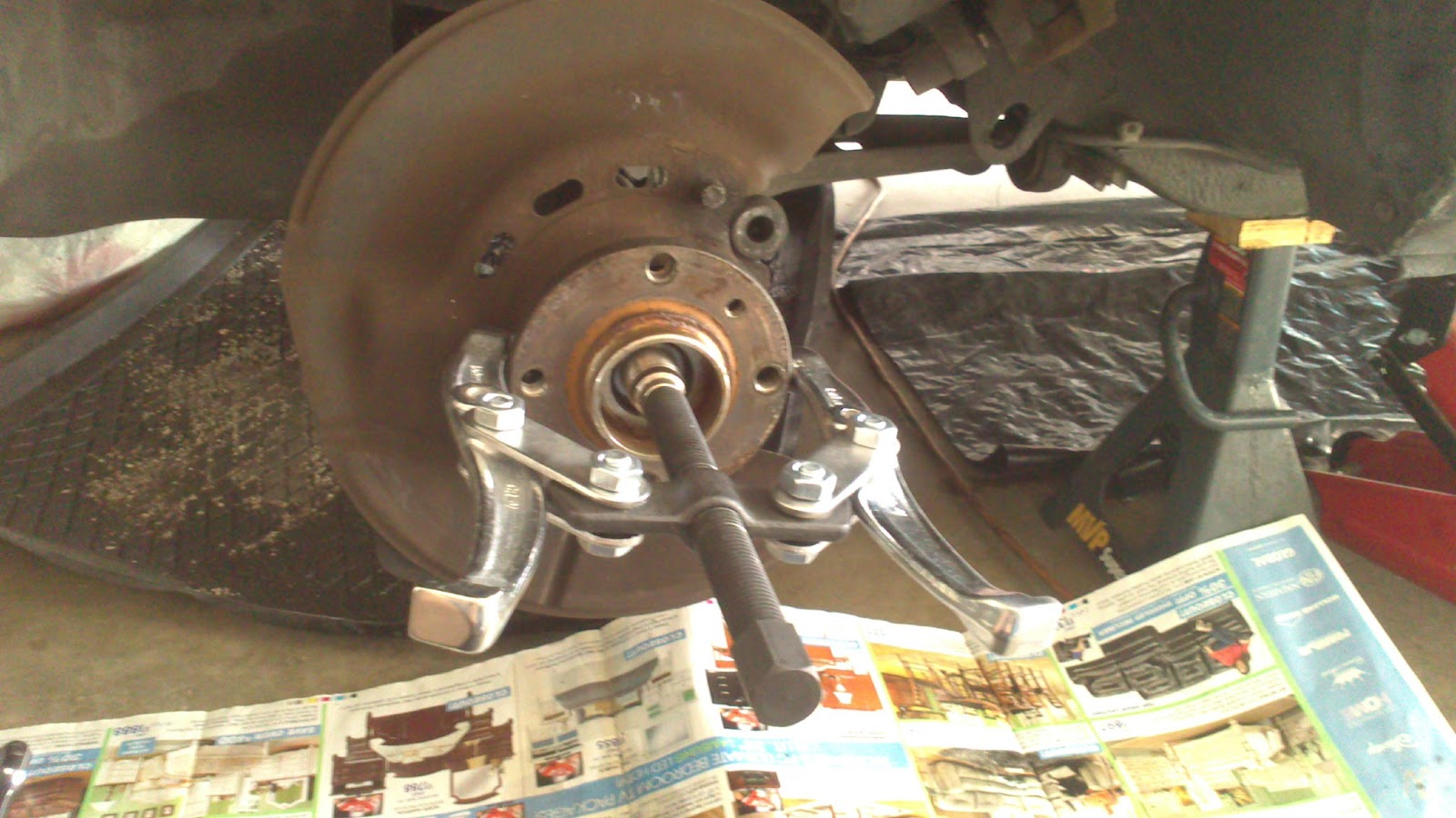 E30 Front wheel bearing removal