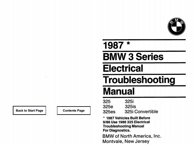 E30 Electrical troubleshooting schematics | RTS - Your Total BMW ...