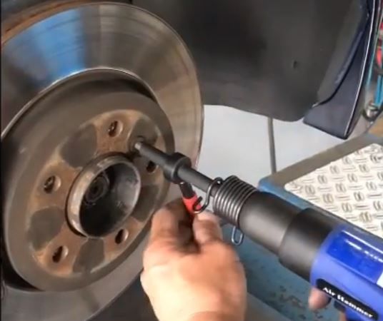 How to remove seized rotor screws